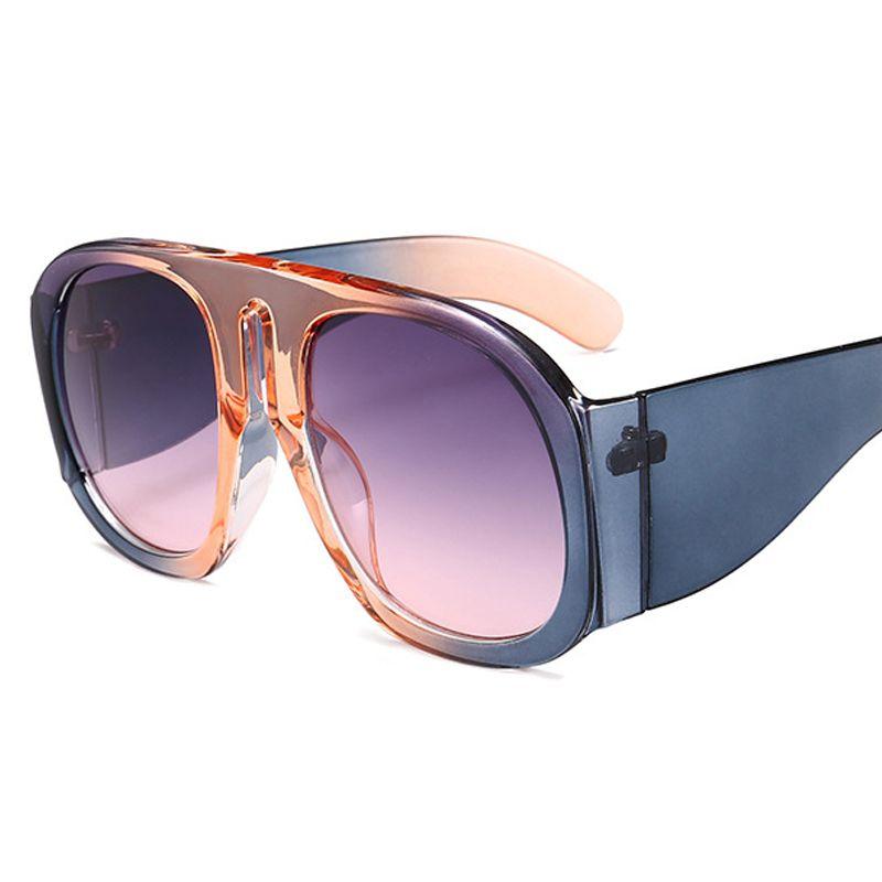 e9e60bff7d Compre 2018 De Gran Tamaño De Lujo De La Vendimia Gafas De Sol Cuadradas  Mujeres Diseñador De La Marca De Moda Femenina Gafas De Sol Gafas De Sol  Para La ...