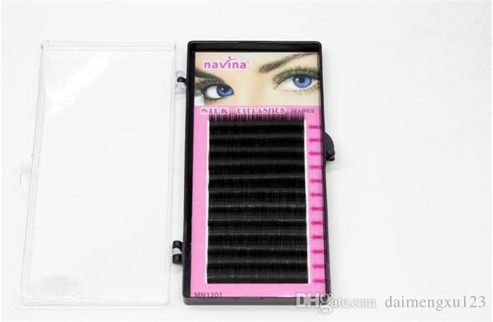 Makeup supply 8mm 10mm 12mm 14mm MINK Individual Eyelash Extension maquiagem Handmade Artificial Fake False Eyelashes X061