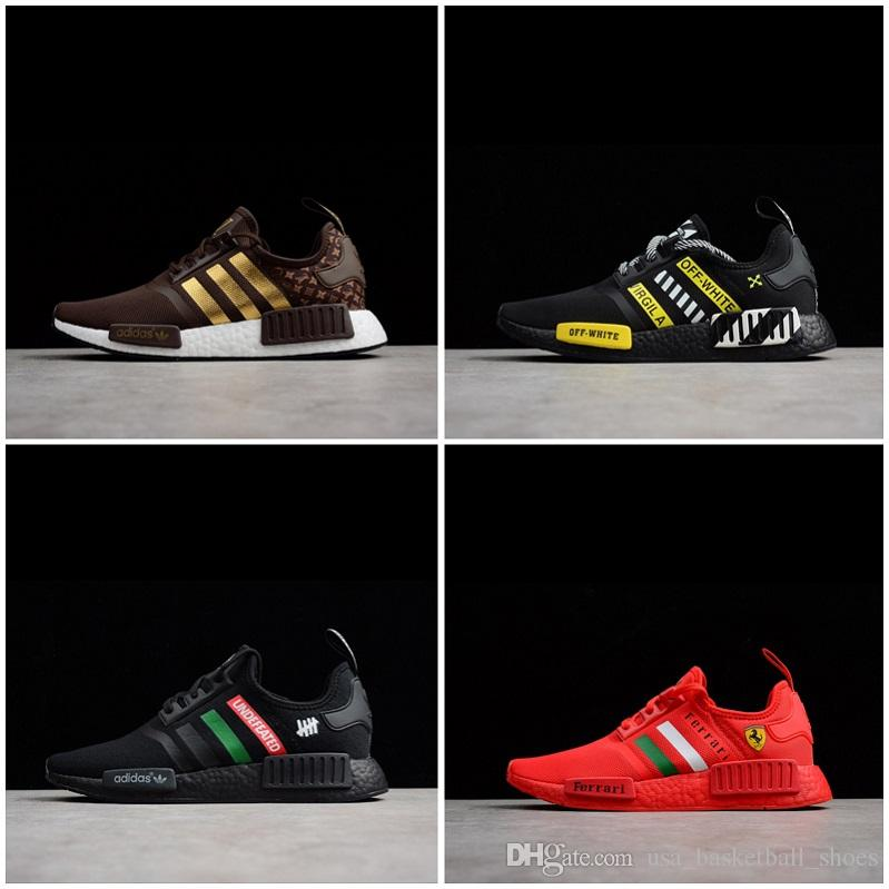 0c4774cb6 Hot Sale NMD R1 Undefeated Primeknit PK Running Shoes Men Women Brown Black  Yellow Red Sneakers Man Orange Red Runner R1 Sports Shoes Free Shoes  Discount ...