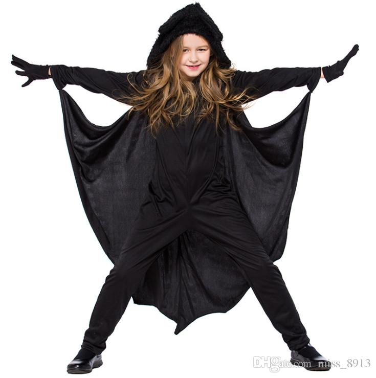 2019 Black Halloween Costumes For Children 2018 New Kids Bat Costume