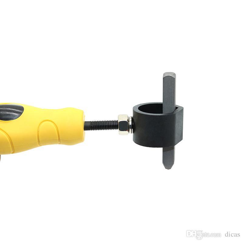 livraison gratuite frappe à la main en acier perforateur titulaire timbre outil de maintien de sécurité poignée pinces éviter blesser votre main outil de serrage fixe