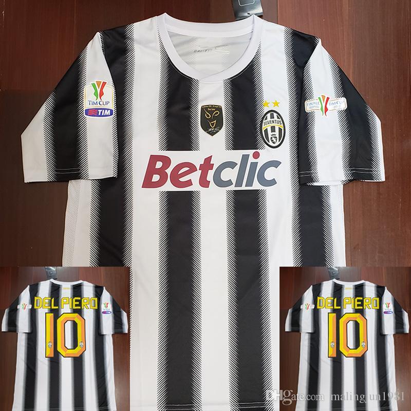 huge discount c65bc 0ffd0 Juventus Juve 11 12 Del Piero Retro Football Jersey Vintage 2011 2012  Italie Calcio MAGLIA Pirlo Throwback Maillots de foot Alessandro Retire  Final ...