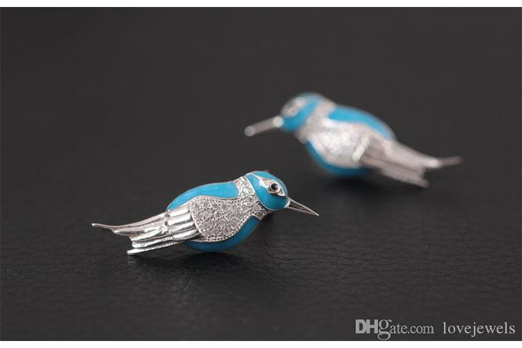 New arrival 925 Sterling Silver Earring fashion Antique pearl bird earnail ear nail studs charm wholesale woman jewelry china