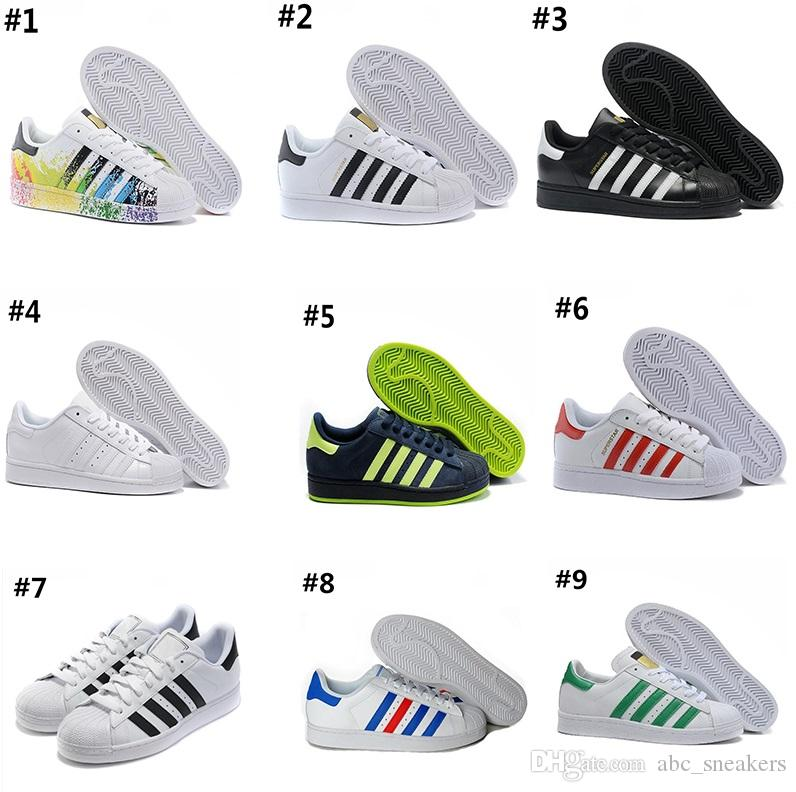 70c02ab5599 Compre AD07 2 2018 Adidas Superstar 80s Basketball shoes Alta Qualidade SUPER  STAR Rei 15 Sapatos Basketingsball Fantasma CAVERNAS Sapatos De Chegada 15  S ...