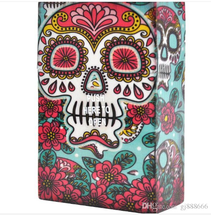 Many Kinds of Ghost Head Pattern Box Portable Personality Cigarette Case Cigarette Box Cigarette Case