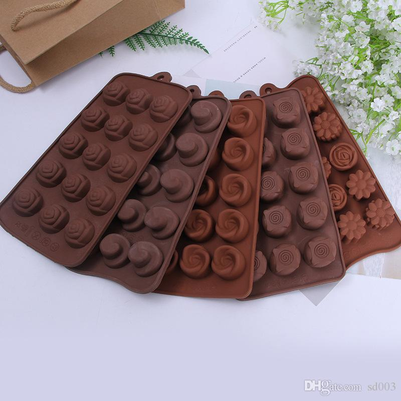 Diy Kitchen Mould Chocolates Food Grade Silicone Block Baking Cake Candy Mold Ice Lattice Cube Maker Tray Non Toxic 2 3hq ZZ