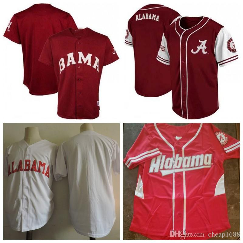 45339c770 2019 Custom College Baseball Alabama Crimson Tide Jerseys Men Women Youth  Stitched Any Name Any Number NCAA Baseball Jersey S 4XL From Cheap1688