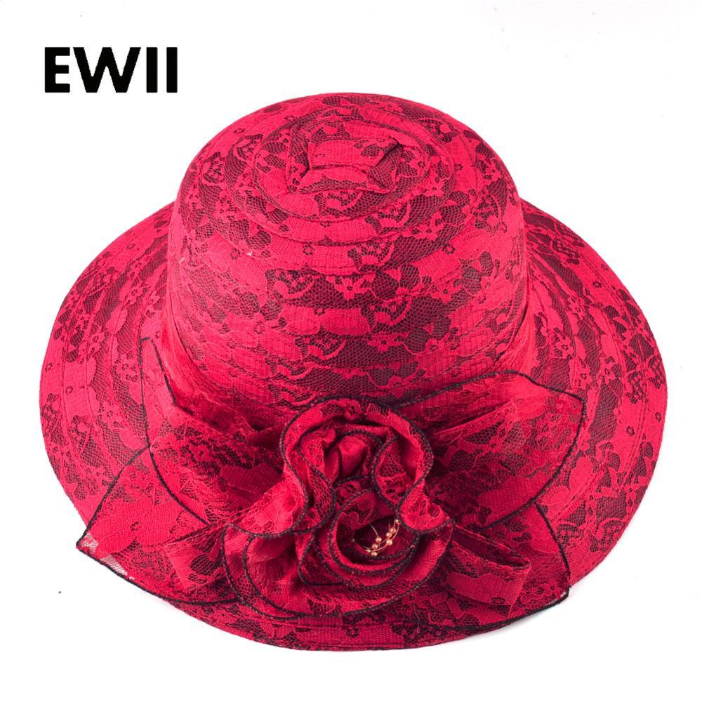 Ladies Flower Sun Hat For Women Summer Panama Caps Women Fashion Beach  Floppy Hat Hats Girl Wide Brim Straw Cap Visor Bone Wide Brim Hat Tea Party  Hats From ... babe5a9958f