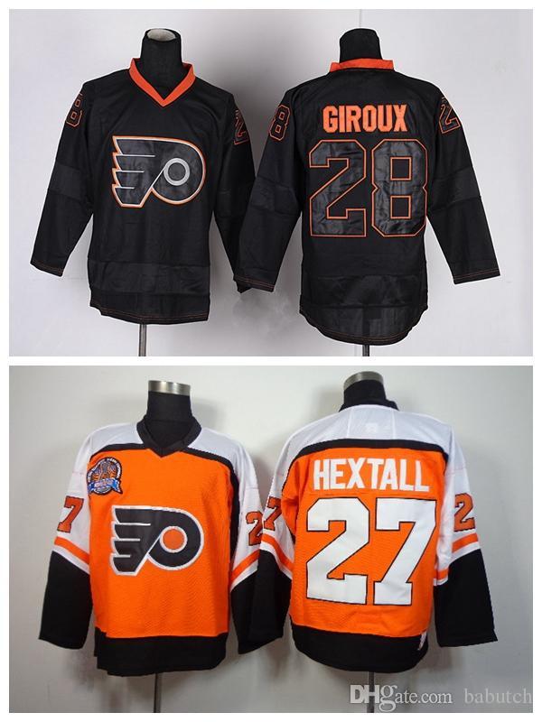 Philadelphia Flyers 27 Reggie Leach 28 Claude Giroux Vintage CCM Retro  Stitched Ice Hockey Jersey S-3XL Philadelphia Flyers Glatt Halifax Jersey  Hockey ... 4df561370