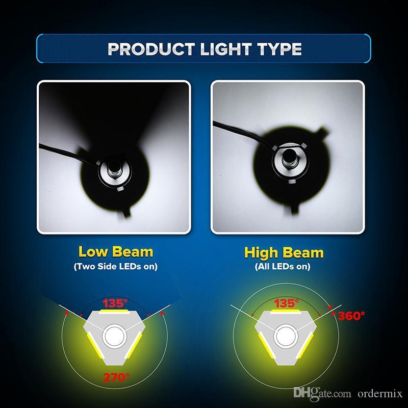 LED Headlight 72W/kit 8000LM/kit H4 High Low Beam H7 9005 9006 HB4 COB S2 Auto Car Light All In One Automobile Lamp 6500K