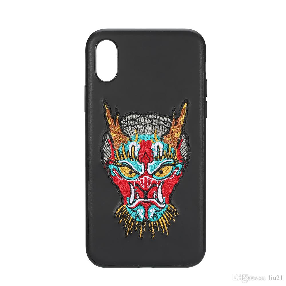 6c01b4e8c Ultra-thin Protective Shell Back Cover Phone Case PC+TPU Shock-Absorption  Anti-Scratch 360° Protection Cellphone Case with Embroidery Patter Cell  Phone ...