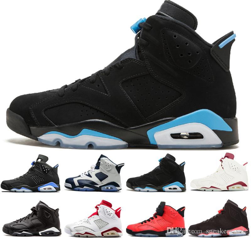 0b55c26434e162 2019 2019 Cheap 6 6s Mens Basketball Shoes Men Unc Black Cat Infrared  Sports Blue Maroon Olympic Alternate Hare Oreo Angry Bull Sports Sneakers  From ...