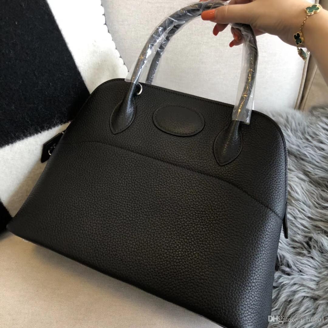 Роскошная знаменитая марка BOLIDE Female H Сумки с высоким качеством  Женская сумка 100% Handmade Cowhide togo Натуральная кожаная сумка Tote  Bags customized fe613cd9ed6