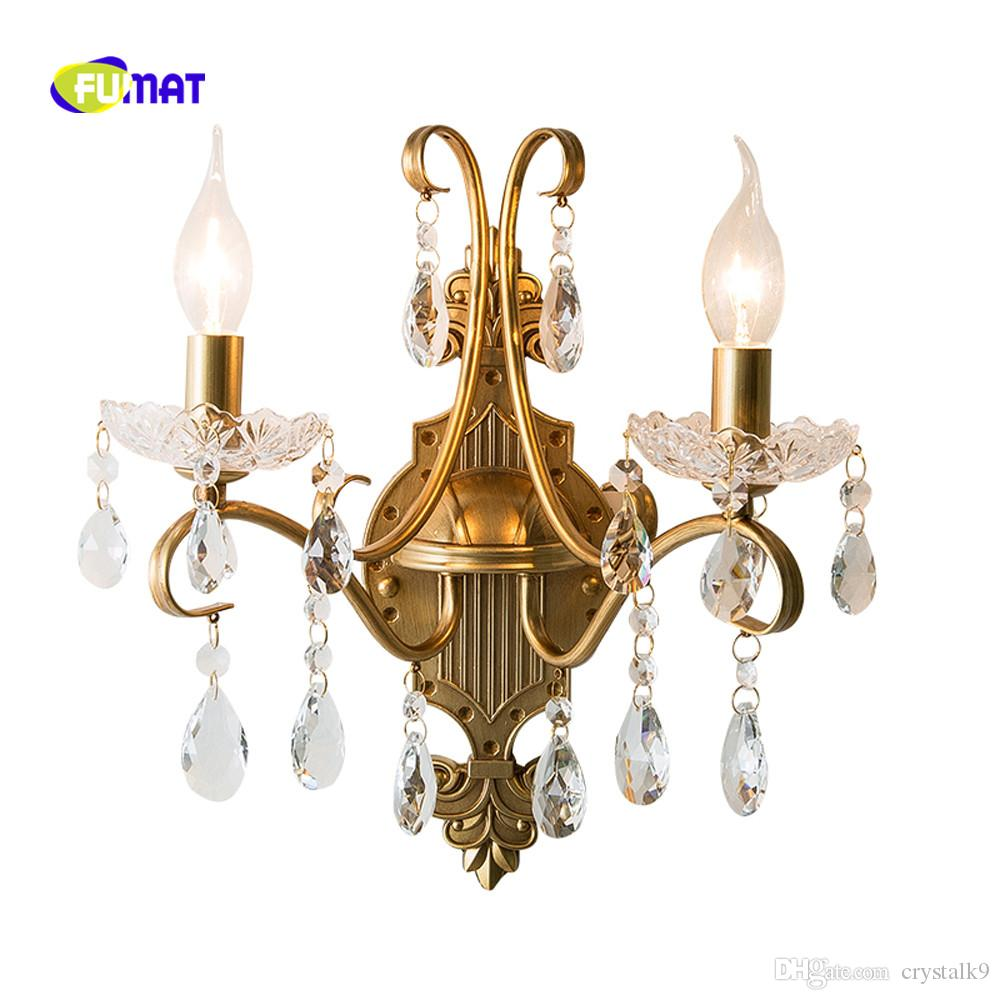 Lights & Lighting Led Indoor Wall Lamps Modern Cristal Wall Lights For Living Room Luxury Crystal Glass Wall Lamp Home Lights Gold Wall Sconce Ac 110v 220v