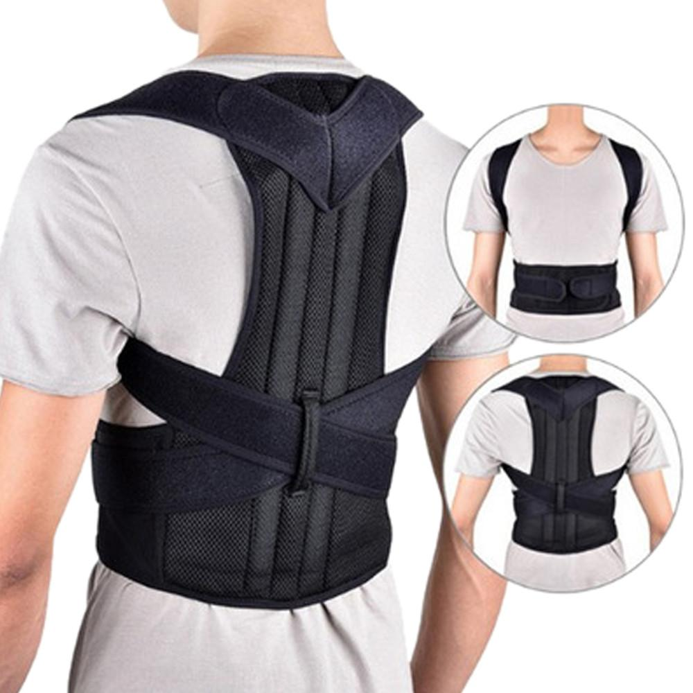 fe27d4c480bd0 Adjustable Men Women Posture Corrector Corset Back Support Brace ...