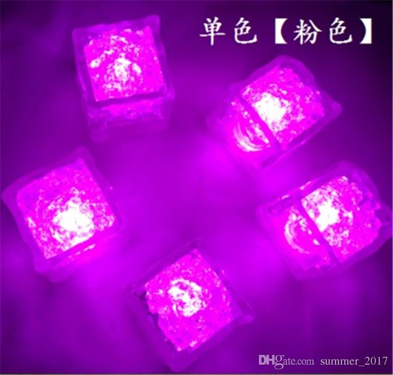 LED Ice Cube Multi Color Changing Flash Lights Crystal Cubes for Party Wedding Event Bars Chirstmas Halloween Party Decorations