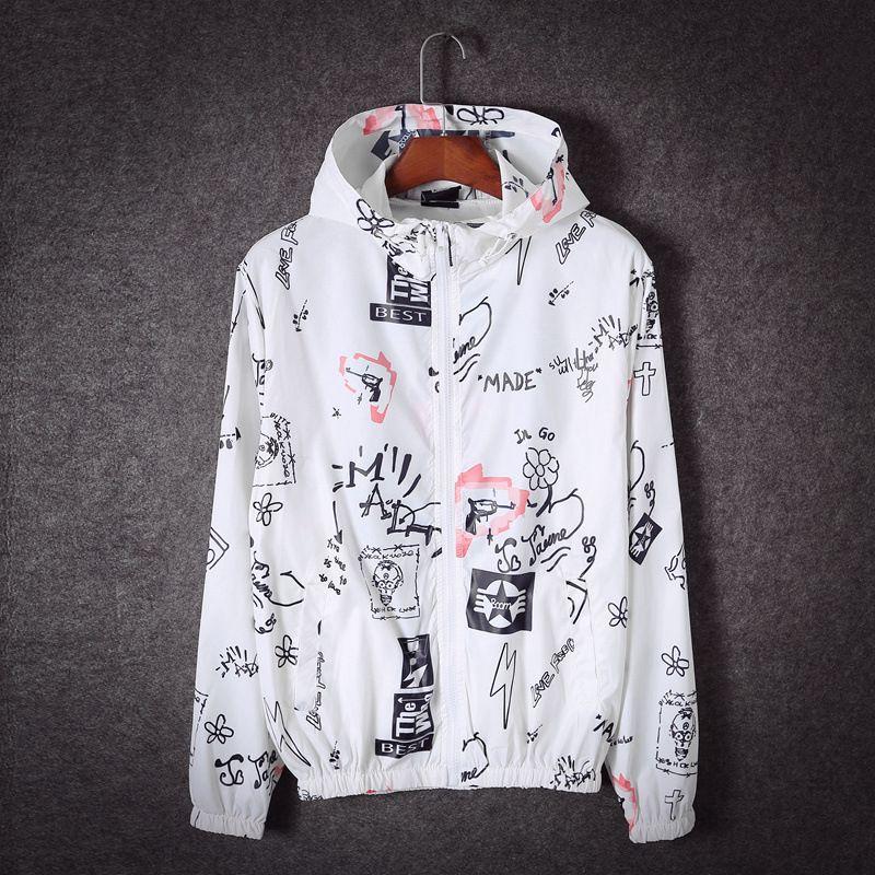 Großhandel Gd Graffiti Jacken Männer Frauen Streetwear Harajuku Sun