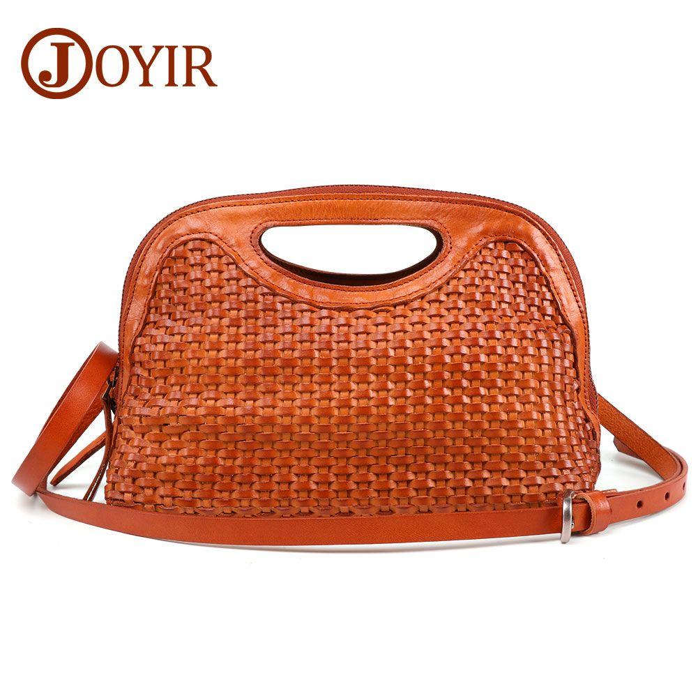 745e53bb3b Wholesale Women Weave Genuine Leather Handbag Female Leisure Casual ...
