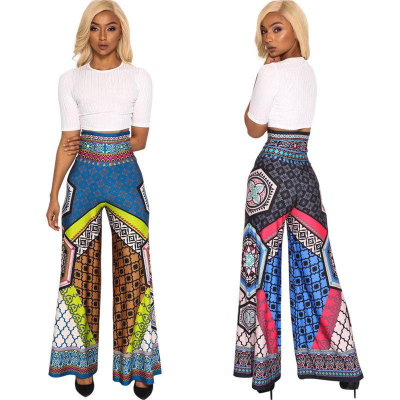 f63738de6 Pantalón ancho de cintura alta para mujer Pantalón corto brasileño de  cintura elástica Pantalones acampanados Boho Bell Pantalones acampanados ...