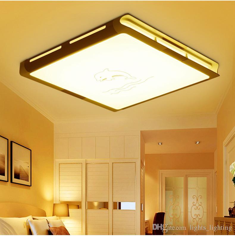 2019 Led Living Room Ceiling Lamp Flat Aluminum Lamp Modern