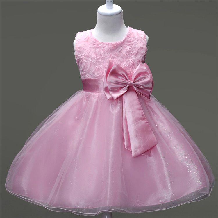 4249de64a Flower Sequins Princess Dresses Toddler Girls Summer Halloween Party ...