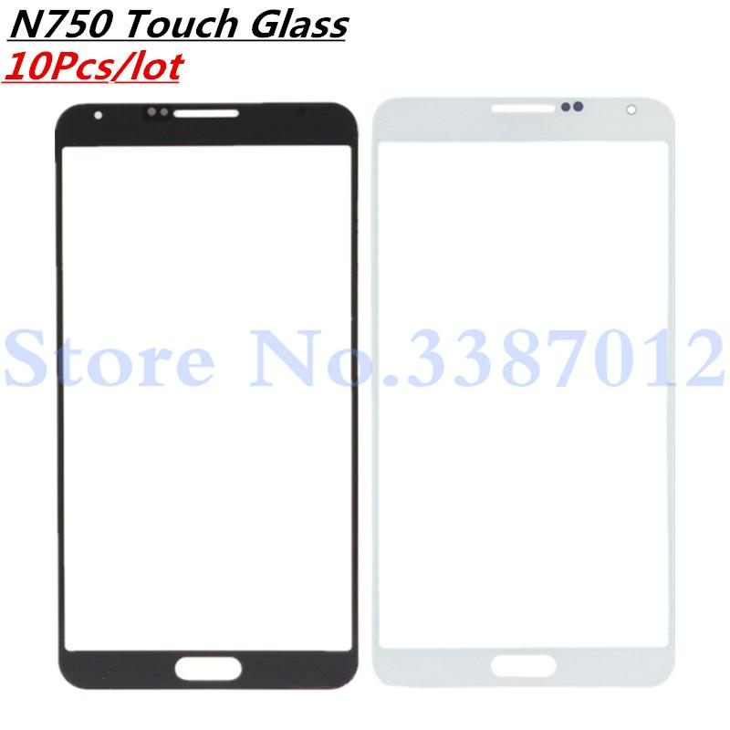 10Pcs/lot For  Galaxy Note3 Neo Note 3 Neo N750 N7505 Front Glass Touch Screen Outer Panel Repair Part