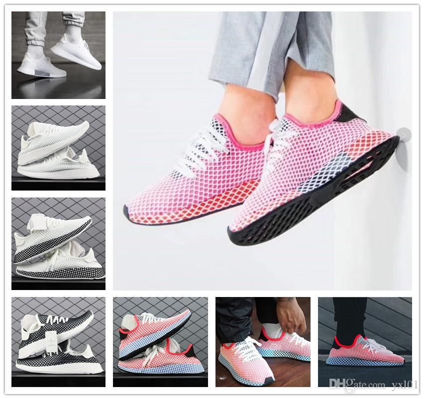 cheap low price fee shipping 2018 Original Deerupt Runner Fashion Net Surface Comfortable Casual Running Shoes for Mens Women All White Pink Orange Sports Sneakers buy cheap genuine outlet 2014 unisex extremely online Inexpensive cheap price 6NPcEkkx