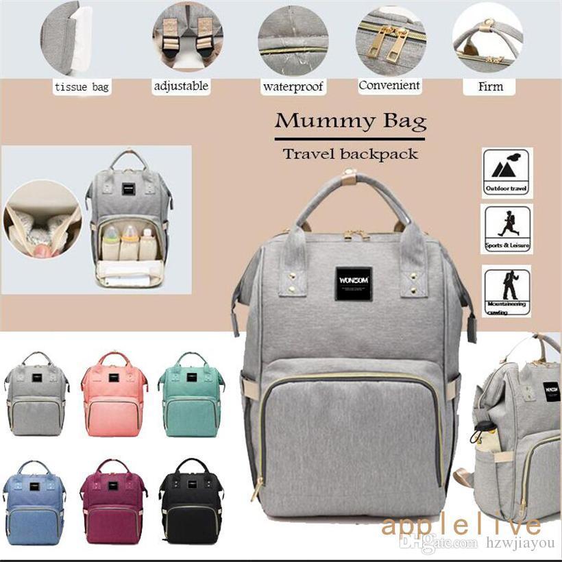 c38090292f Diaper Bag Backpack Waterproof Large Capacity Insulation Travel Back ...