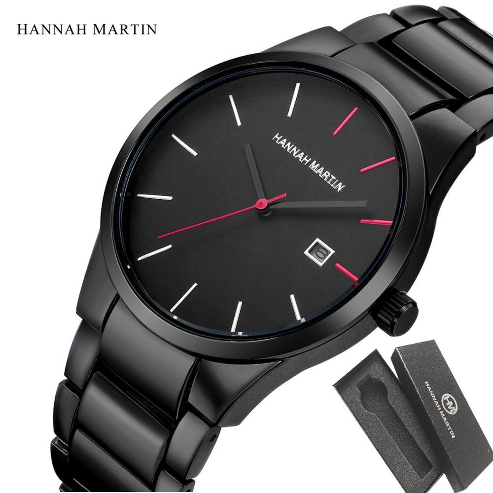 101ad9f6d89 Compre Homens Relógio Casual Masculino Top Marca De Luxo De Aço Inoxidável  Relógios De Negócios Dos Homens De Quartzo Relógio De Pulso De Moda Relogio  ...