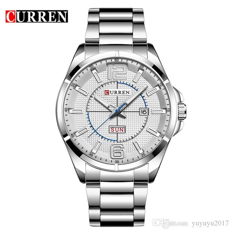 06528896660 Curren 2017 Men Watches Relogio Masculino Luxury Military Wristwatches  Fashion Casual Quartzwatch Water Resistant Calendar 8271 Watches  Wristwatches Mens ...