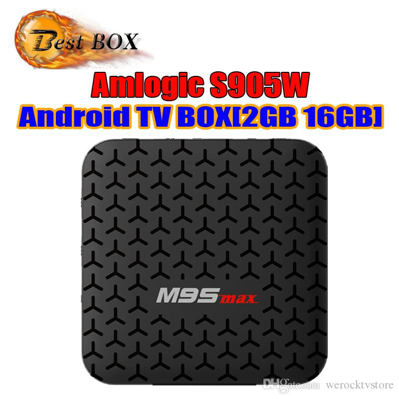 M9S MAX Android 7.1 TV-BOX Amlogic S905W 2 GB 16 GB Quad Core HD 4K WLAN Smart Streaming Media Player Besser X96 TX3 MINI HK1 max