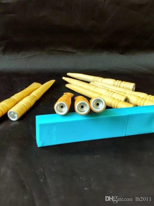 Soporte de madera, quemador de aceite Bongs al por mayor Tubos de vidrio Tubos de agua Tubo de vidrio Plataformas de aceite Fumar Envío gratis