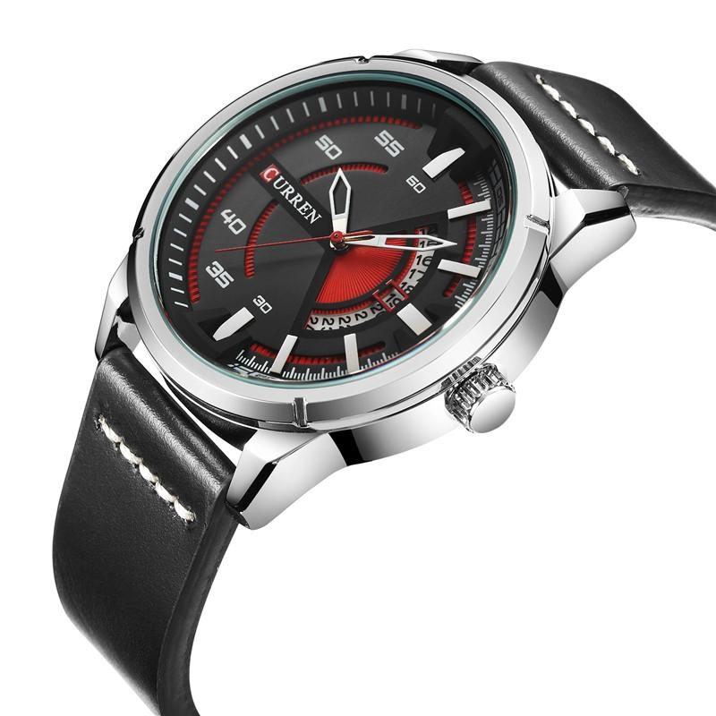 f0d8bb2acb75 Compre CURREN Relojes Para Hombre Fecha Impermeable Top Marca De Lujo Banda  De Cuero Deporte Negocio Masculino Reloj Regalo Relogio Masculino 8298 A   28.4 ...
