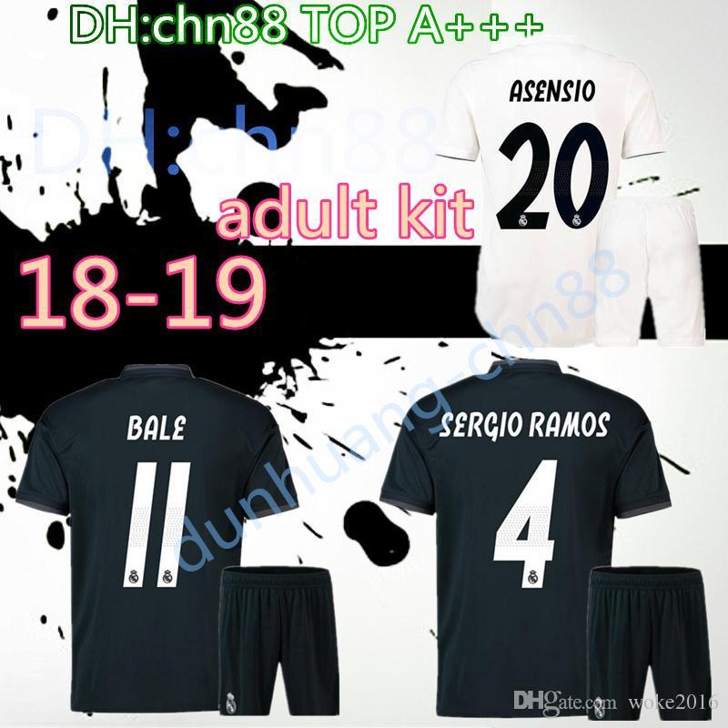 55937caf10f 2018 2019 Adult Real Madrid Soccer Jerseys Kits 18 19 RONALDO SERGIO ...