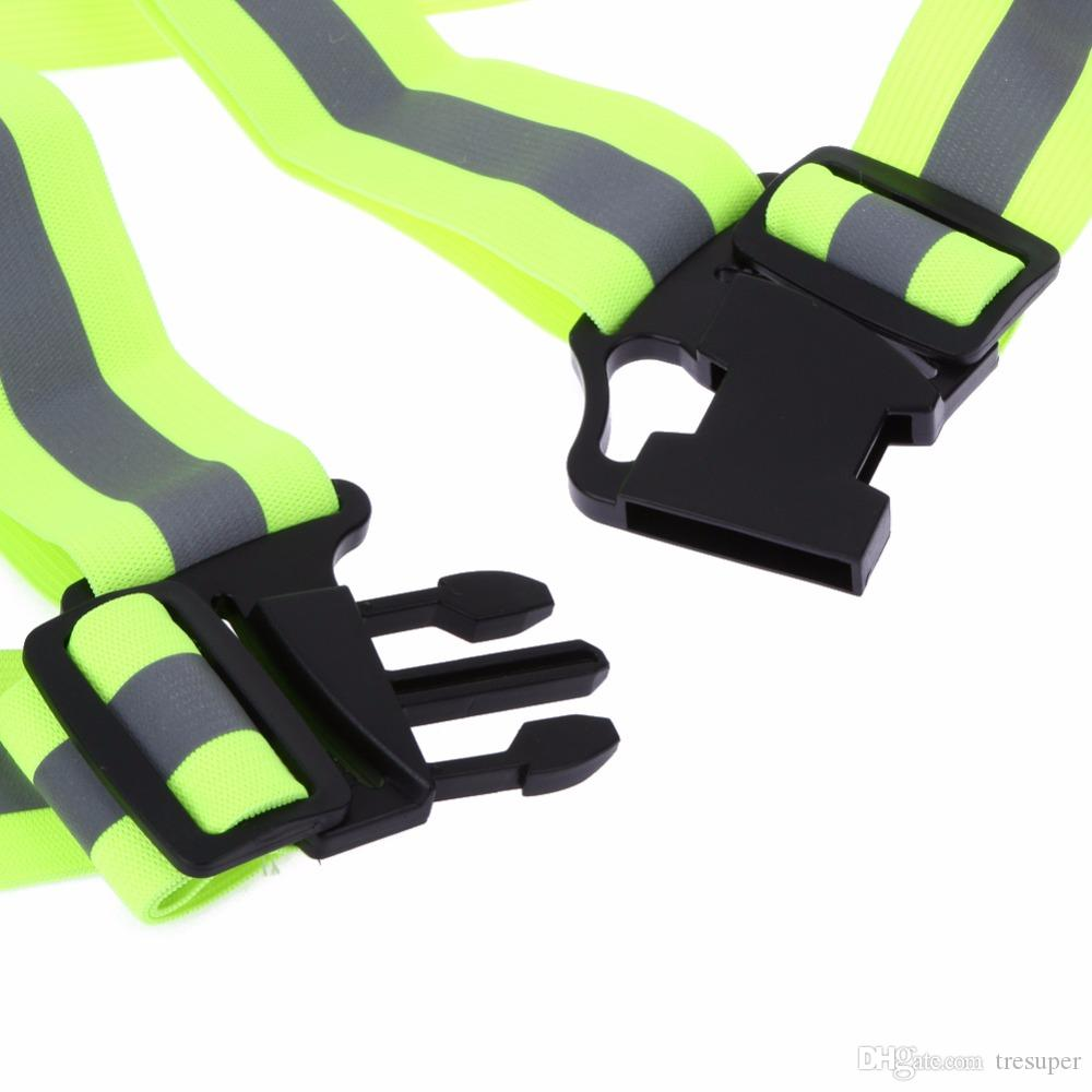 4CM Security High Visibility Reflective Vest Gear Stripes Jacket for Girls/Boys Hiking Cycling Riding Outdoor Sports Night Riding