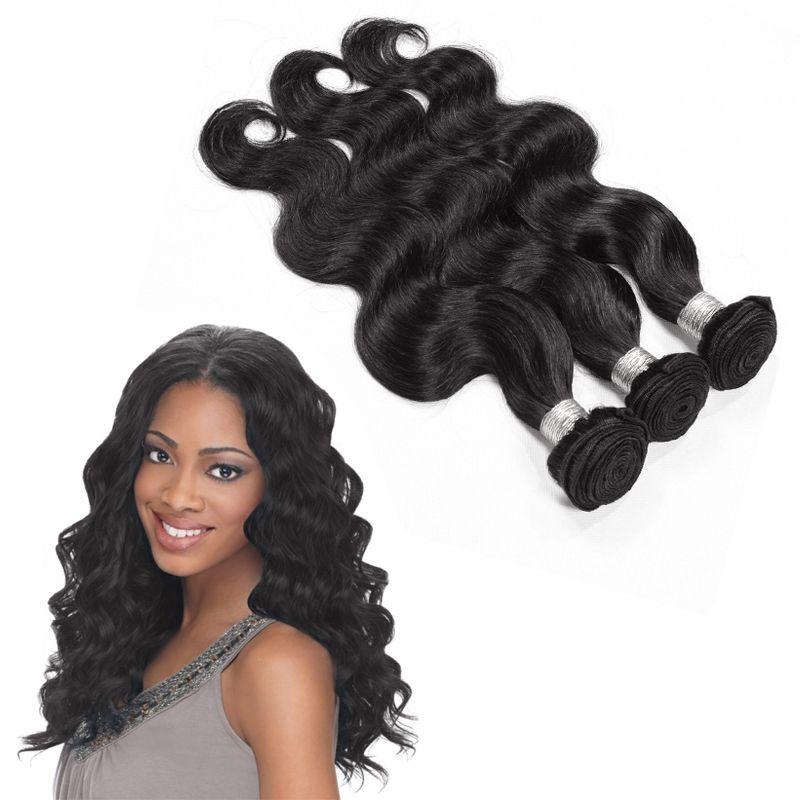 Top Selling Hair Brazilian Body Weave Natural Wave 3 Bundles Human ... db1dd3dbca