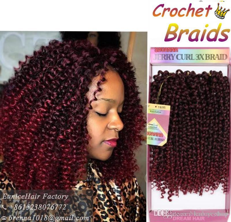 New Burgundy Bug Redwine Marroon Ombre Color Freetress Bohemian Hair