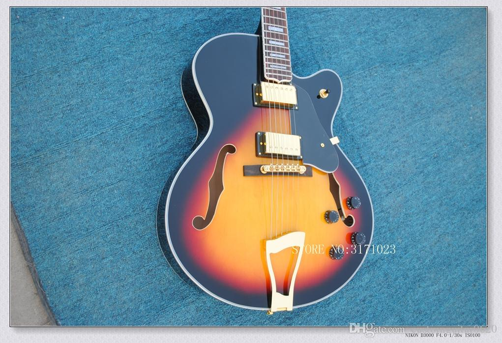 2017 nouvelle marque guitare Flamed Maple Top Guitar 6120 Jazz avec guitare électrique Hollow Body en stock Chine guitares
