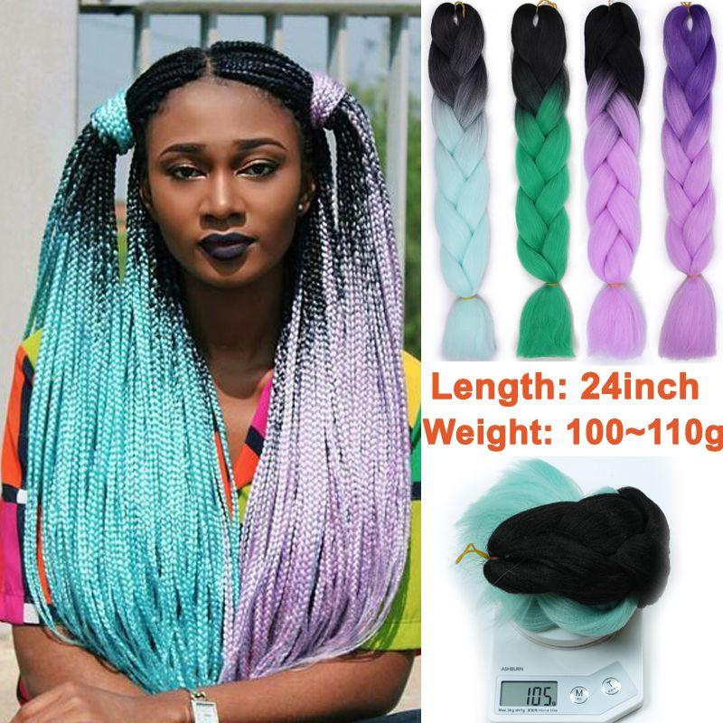 2019 Synthetic Ombre Kanekalon Jumbo Hair Synthetic Braiding Hair