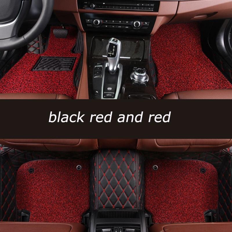 Luxury Car Mats Mercedes Diamond Floor Mats Black With Red Stitching
