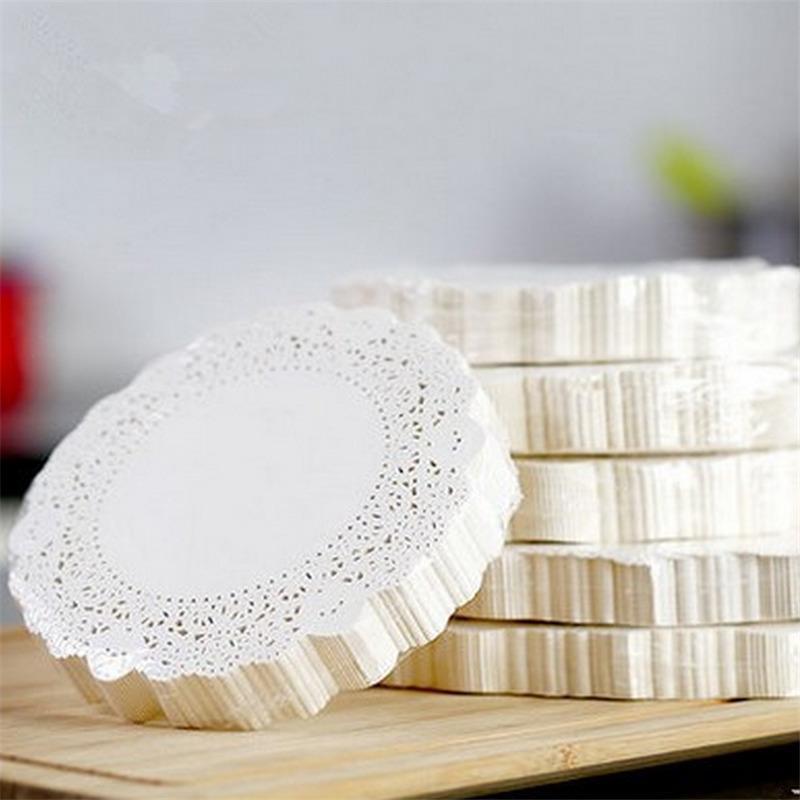 2018 White Round Lace Paper Doilies Doyleys Vintage Coasters
