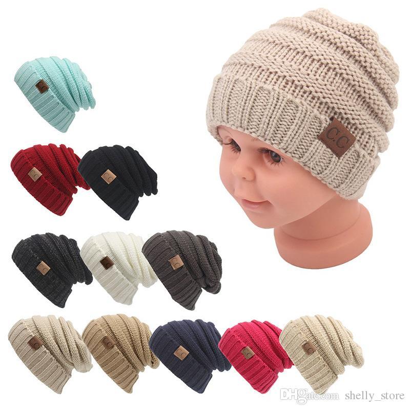 Baby Hats CC Trendy Beanie Crochet Fashion Beanies Outdoor Hat Winter  Newborn Beanie Children Wool Knitted Caps Warm Beanie UK 2019 From  Shelly store c45df02f7d5b
