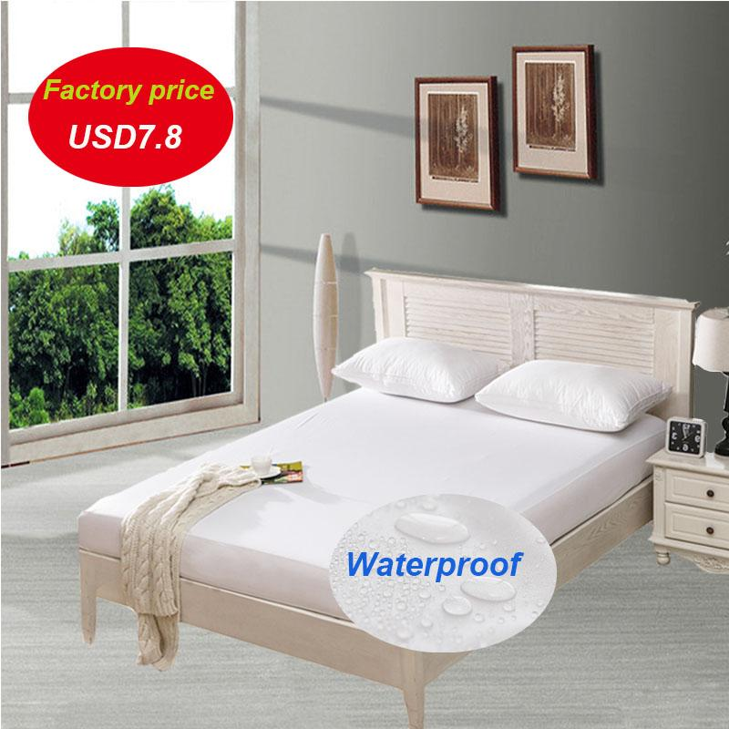 Smooth Waterproof Mattress Protector Cover For Kids Bed Wetting