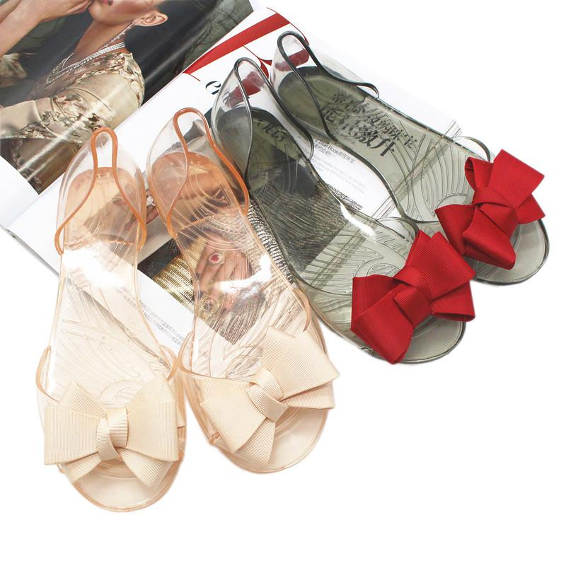 47736d1e9f6cb Women S Sandals 2018 Fashion Lady Girl Sandals Summer Women Casual Jelly  Shoes Bowknot Sandals Female Flat Shoes Footware Silver Wedges Brown Wedges  From ...