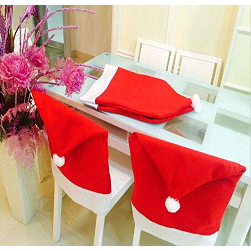 ef51ab2829697 50 60Cm Santa Red Hat Chair Covers Merry Christmas Decor Dinner Chair Xmas  Cap Sets Home Room Indoor Decaorative Best Christmas Decorations Best  Christmas ...