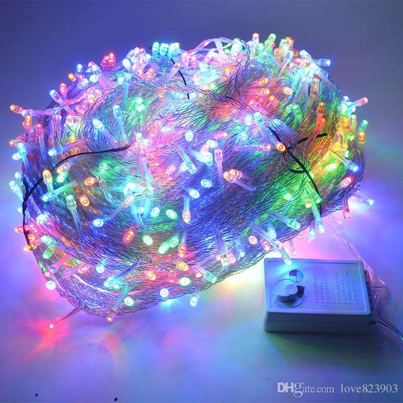 wholesale christmas lights 100m 800 bulb led string 8 function christmas lights for wedding party holiday lights 220v 240v eu uk au chinese lantern string