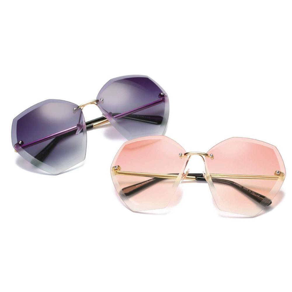 d129f6a5682 Casual Women Frameless Sunglasses Fashionable Endless Big Frame Glasses  Designer Ladies Trimming Glasses Female Eyewears Glasses Frames Glasses  Online From ...