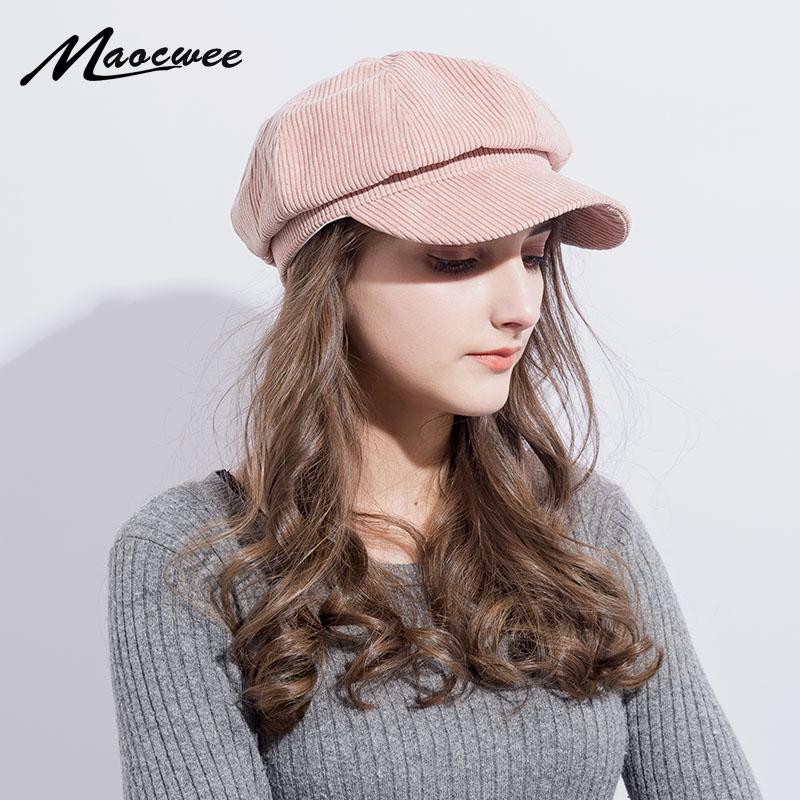 25cc894bc4e73 2019 British Style Women Berets Cap Hat High Quality Fashion Hat Girl  Students Party Hat Women Casual Newspaper Caps Bone From Hongshaor
