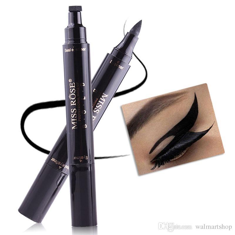 Nouveau maquillage Maquillage Liquide Eyeliner Crayon Maquiagem Séchage Rapide Aile Eye Liner Avec Miss Stamp Eye Pencil