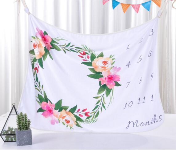 8 estilos bebê infantil fotografia fundo comemoração cobertores Adereços fotográficos Cartas flor Animais Fotográfico cobertor de lã